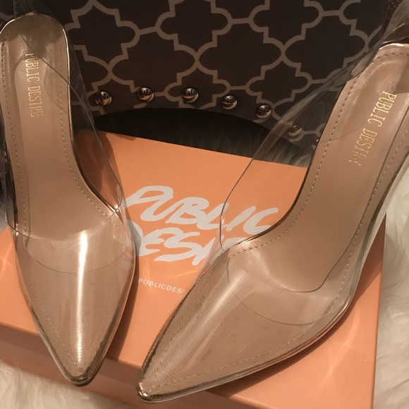 801422d8f3e0 Clear translucent pump heels. M 5b9698933e0caa49e1e8d31b